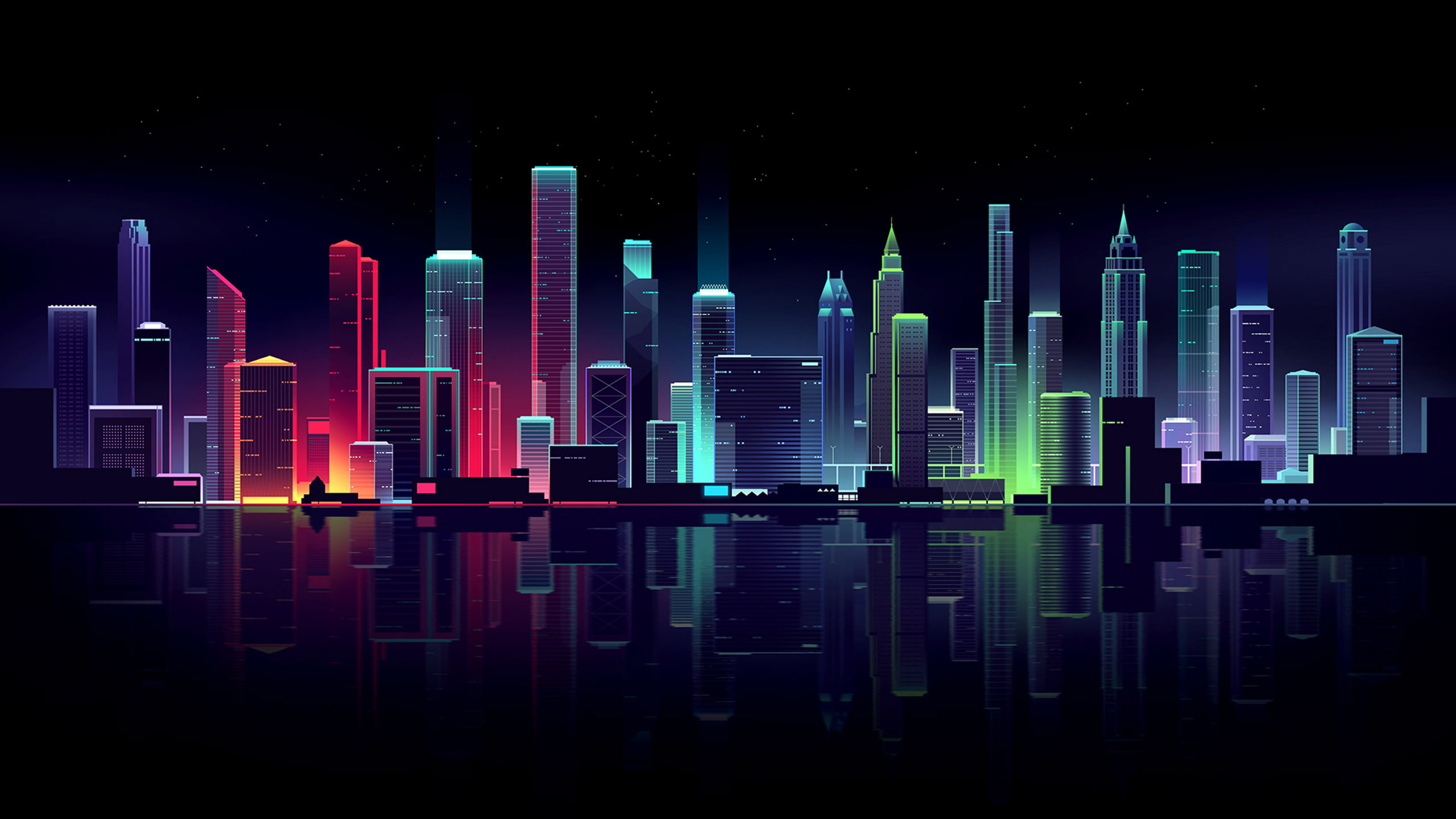 Neon Cityscape Wallpapers Hd Wallpapers