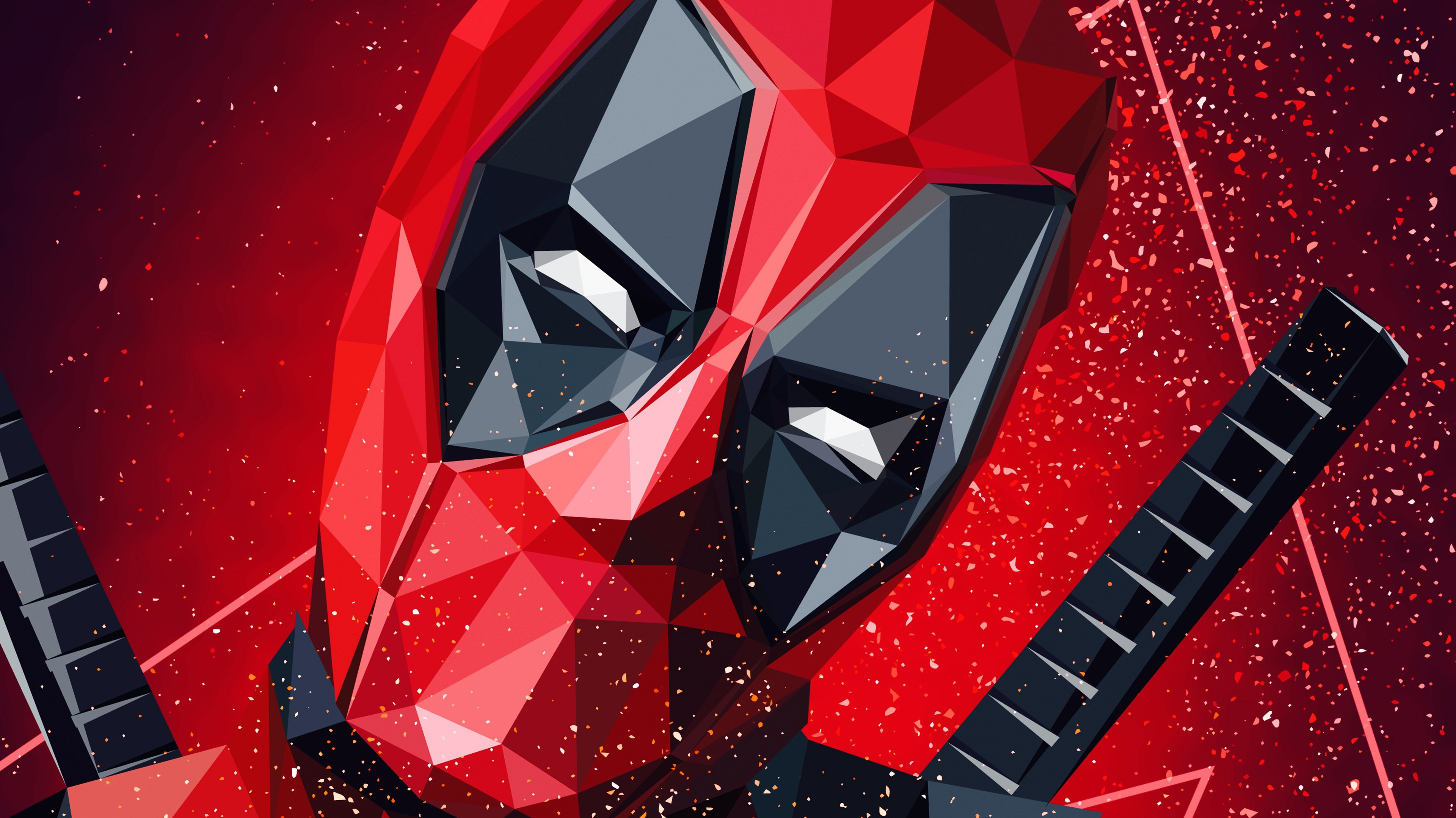 Deadpool Lowpoly Artwork 4k Wallpapers Hd Wallpapers