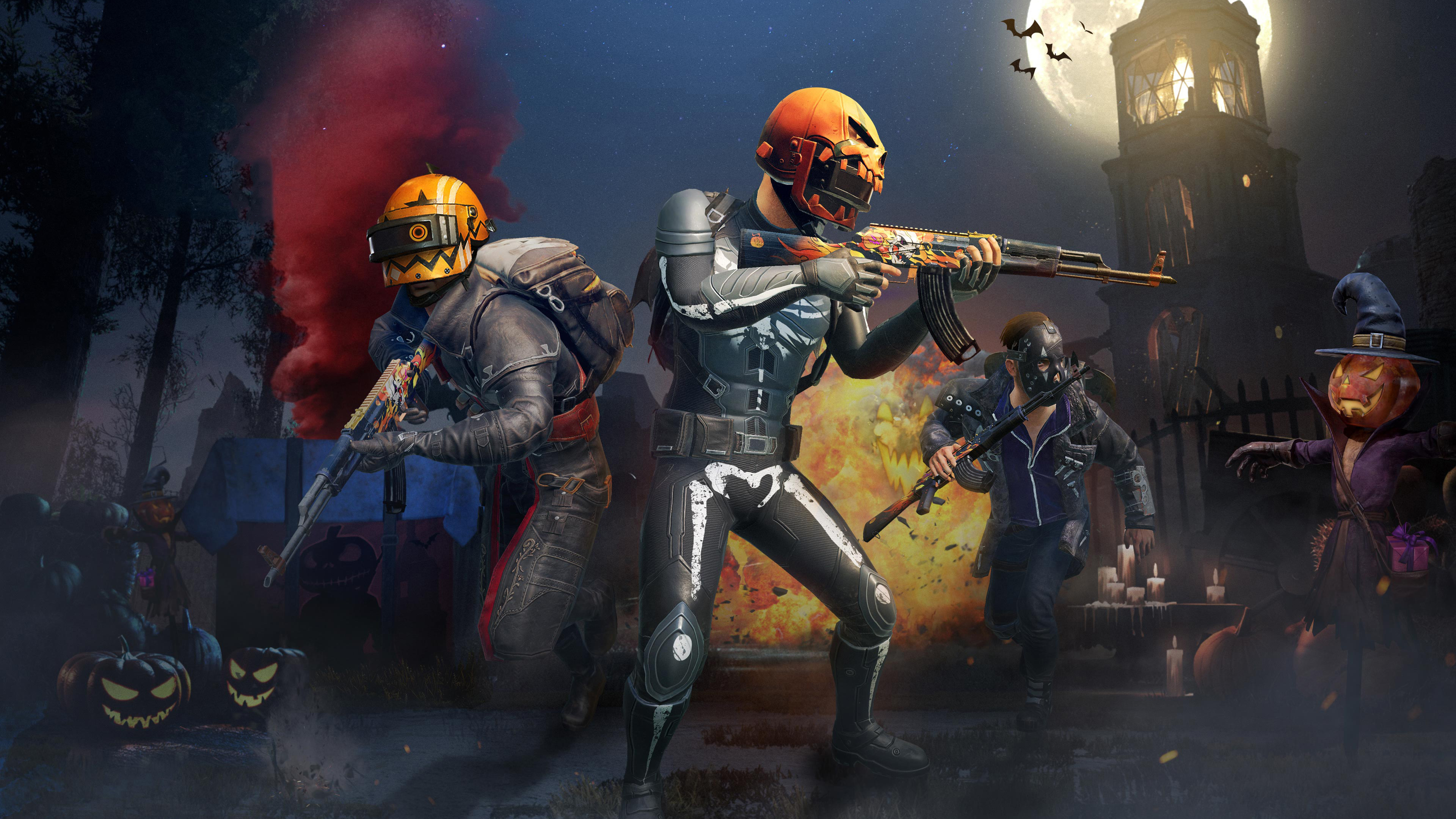 Pubg Hd Pics For Mobile: PUBG Mobile Halloween Update 4K Wallpapers