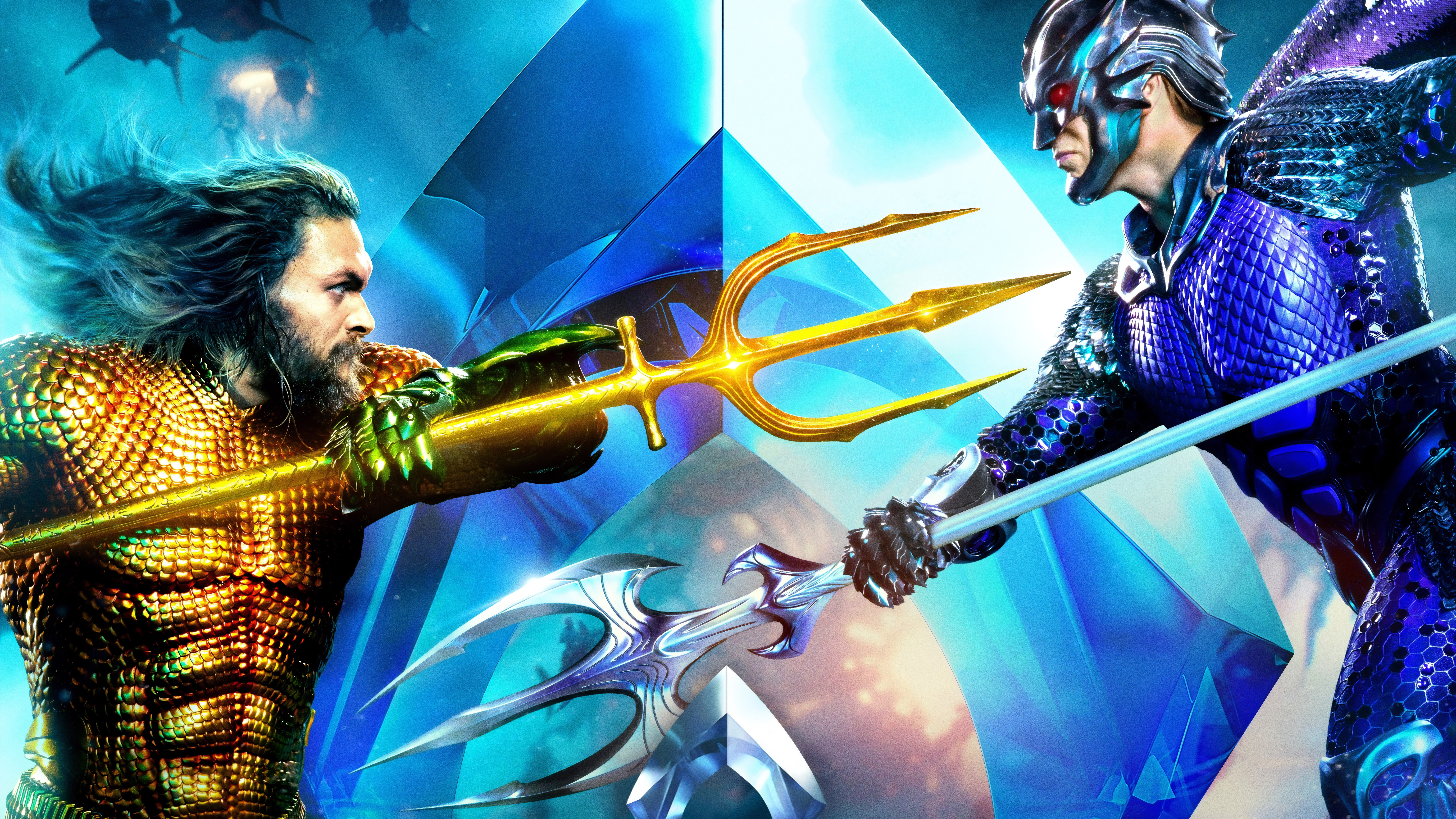 Aquaman Vs King Orm 4k 8k Wallpapers Hd Wallpapers