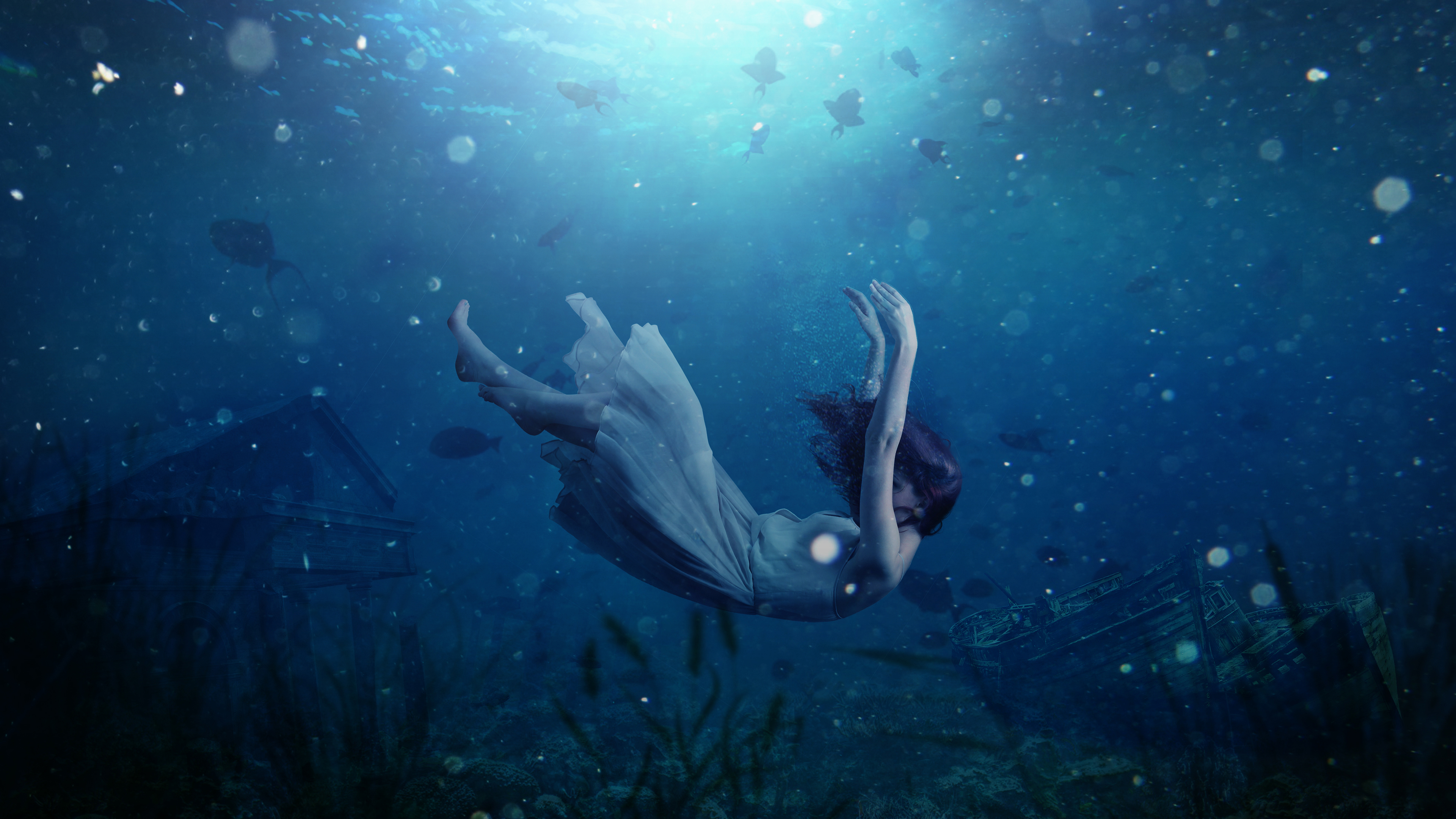 43c3636e35a Girl Underwater Dream 4K Wallpapers   HD Wallpapers