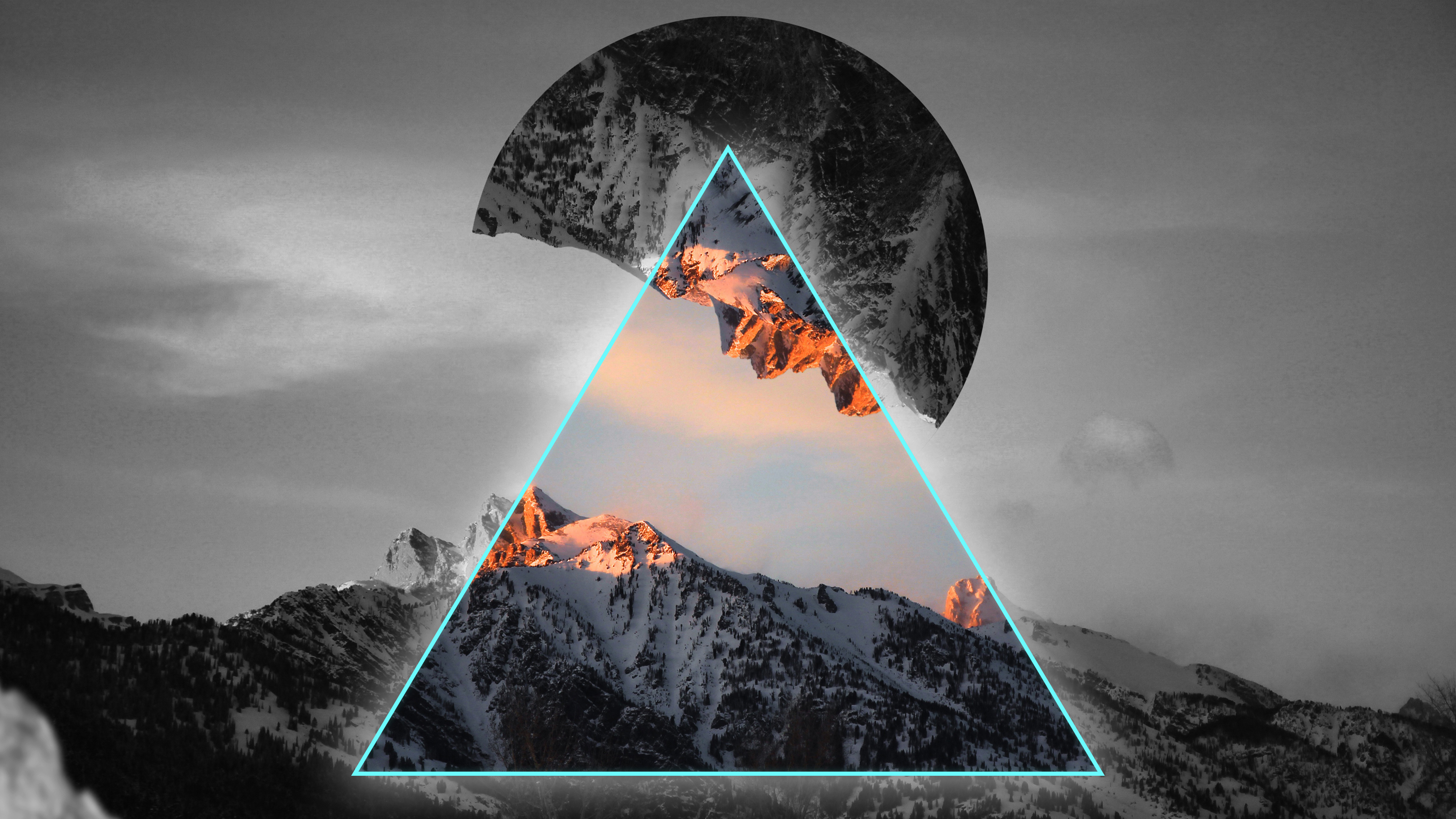 Geometric Mountains 4K Wallpapers | HD Wallpapers