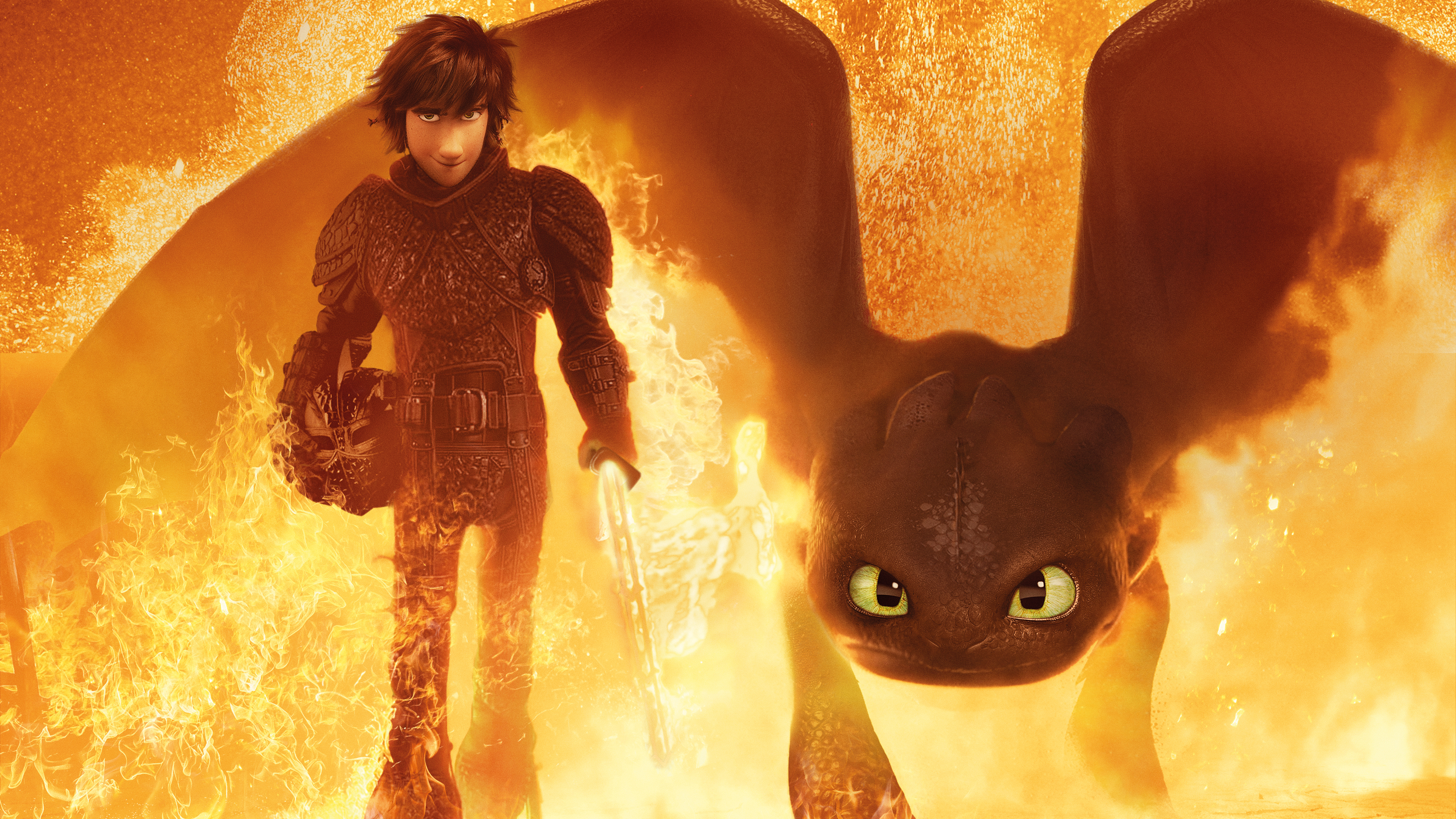 Hiccup Toothless How To Train Your Dragon 3 4k 5k Wallpapers Hd Wallpapers