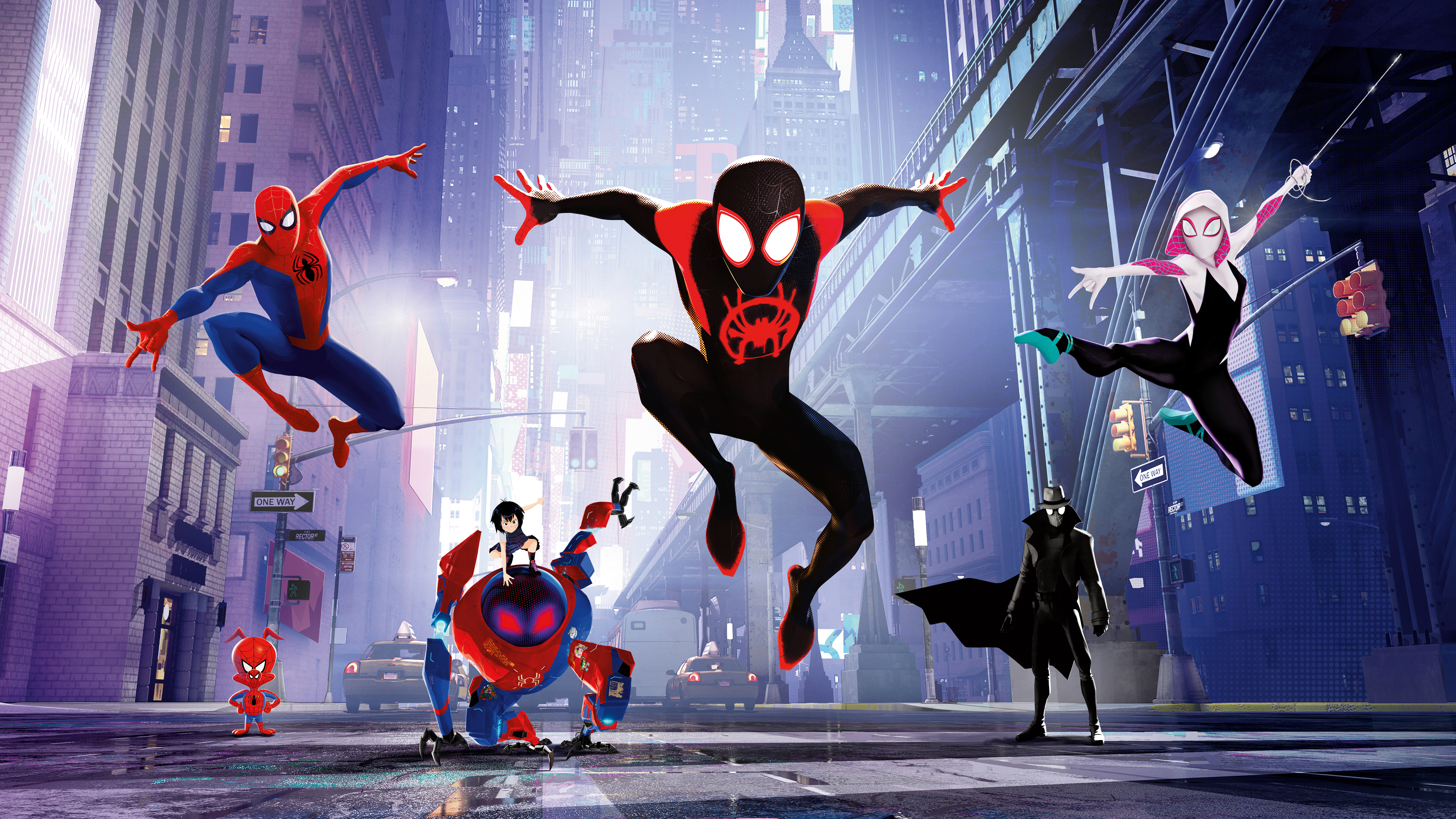 spiderman into the spiderverse 4k 8k 5k wallpapers  hd