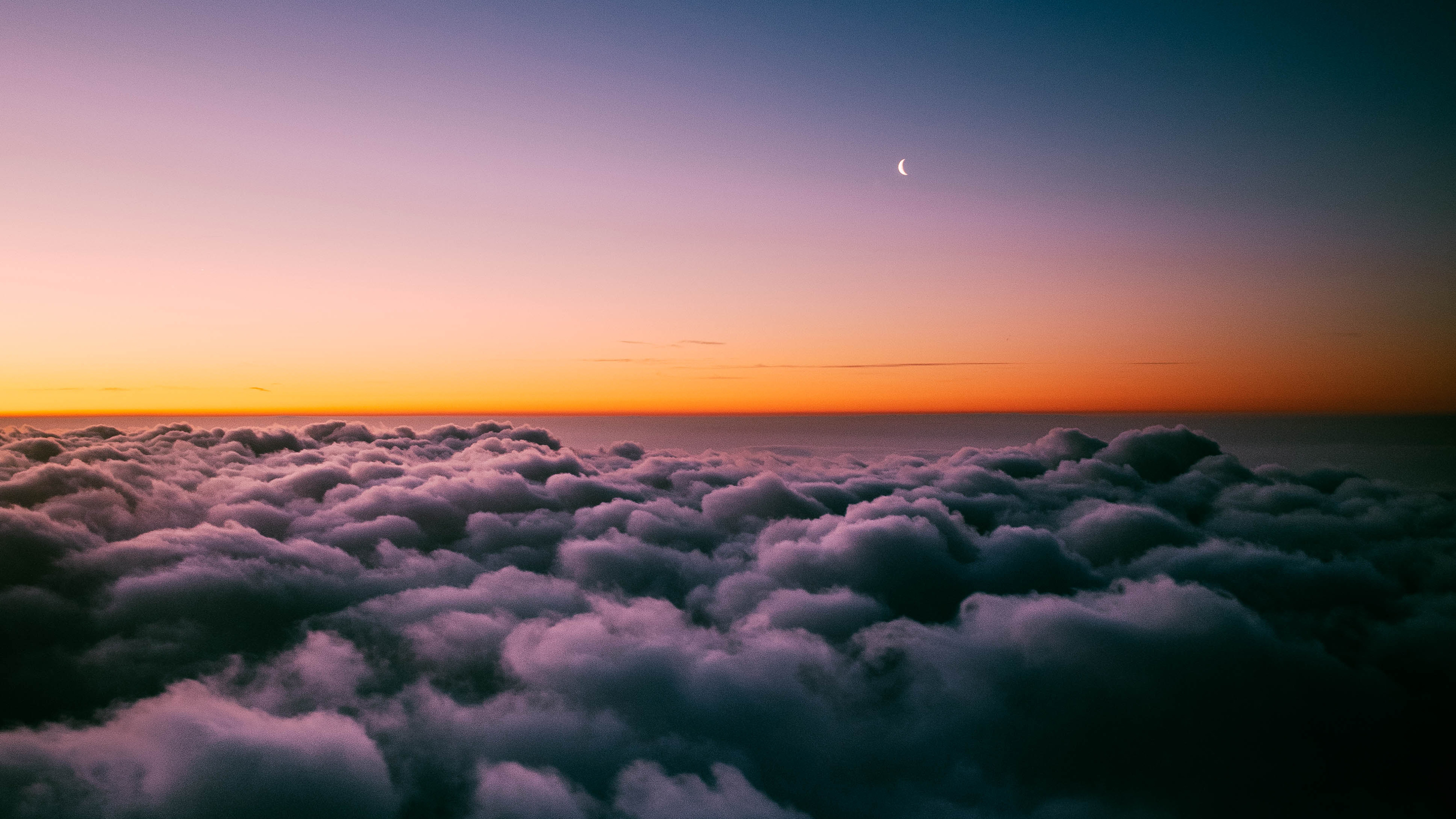 Sunset Horizon Above Clouds 4k Wallpapers Hd Wallpapers