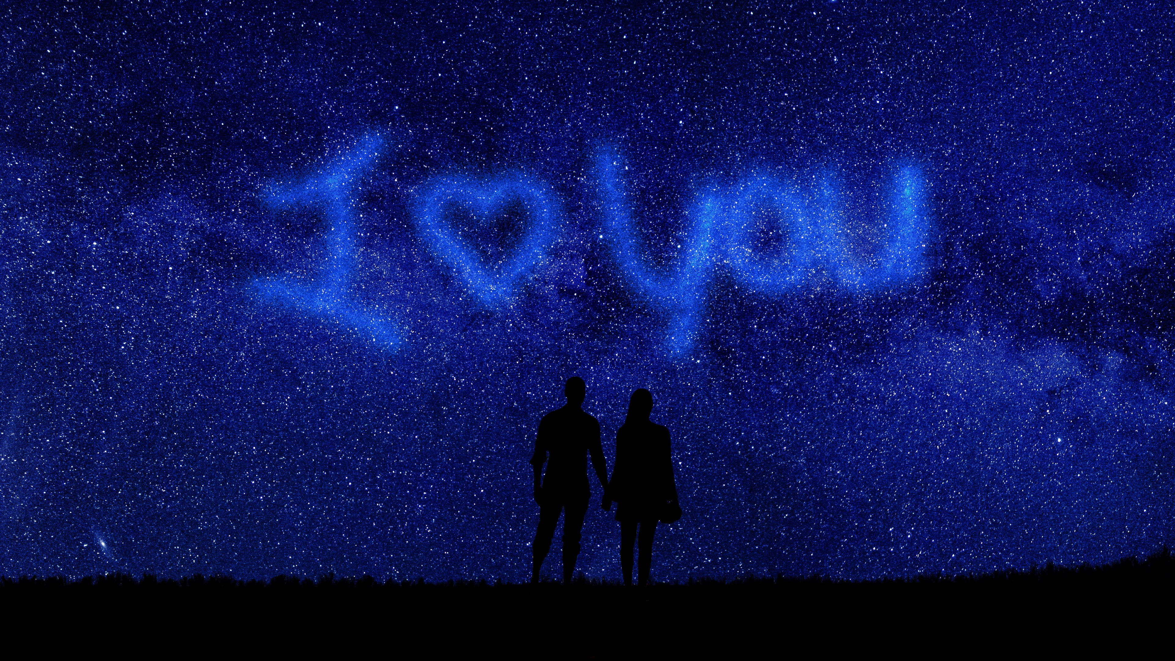 I Love You Couple Romantic Night 5k Wallpapers Hd Wallpapers