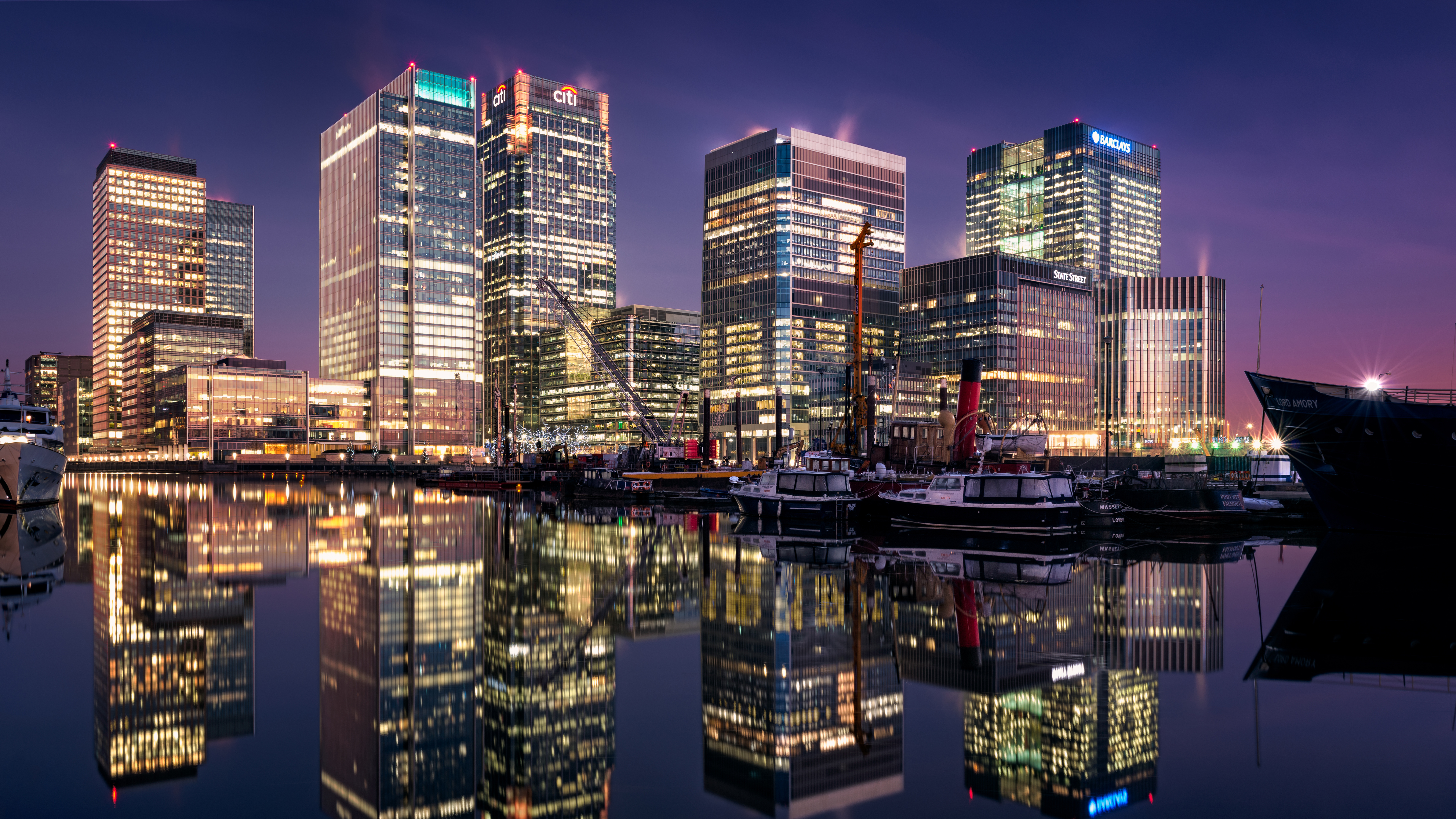 Canary Wharf South Dock London 4k 8k Wallpapers Hd Wallpapers