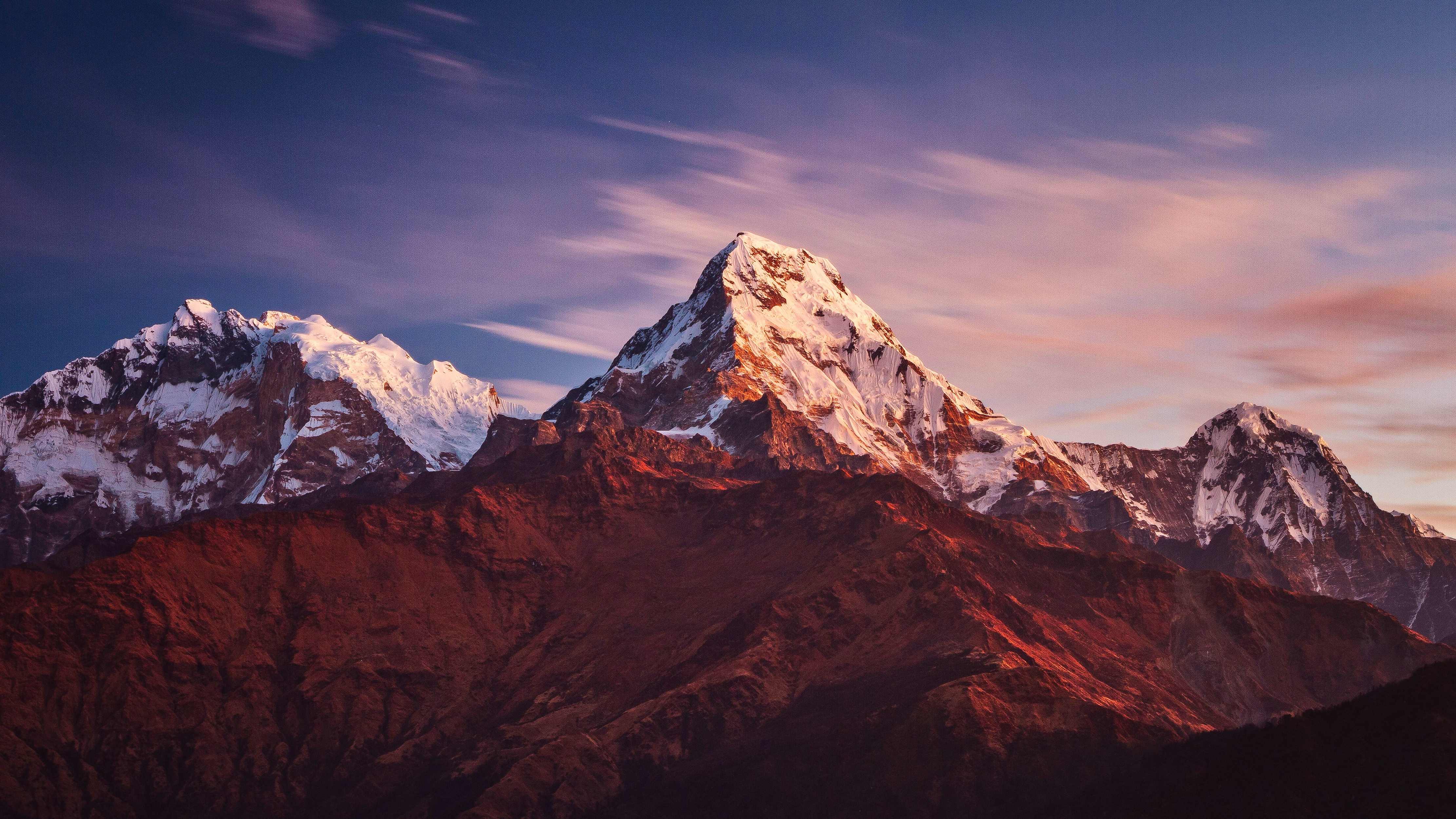 Annapurna Massif Mountains 4k Wallpapers Hd Wallpapers