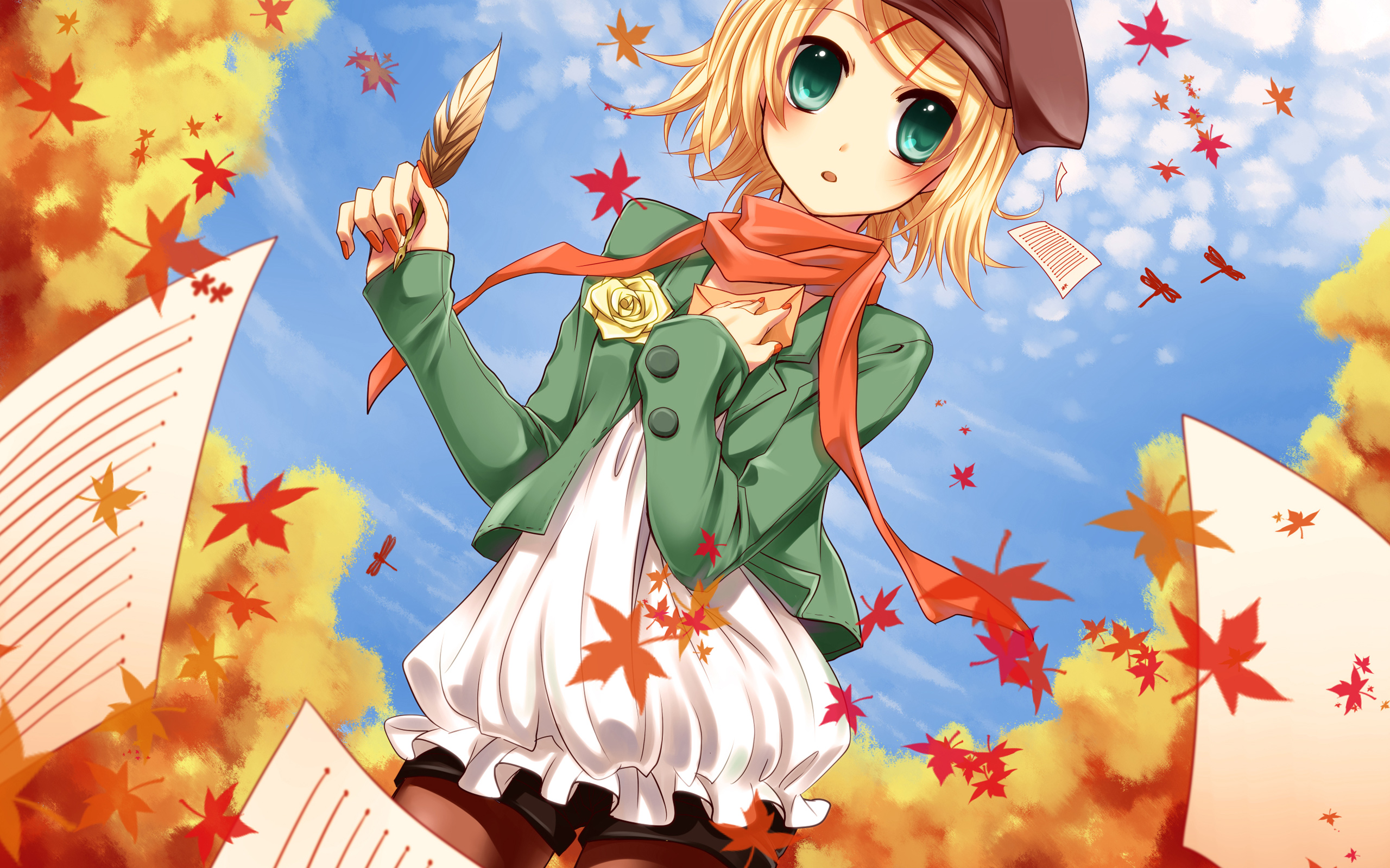 Kagamine Rin Vocaloid Wallpapershd Wallpapers Hd Wallpapers