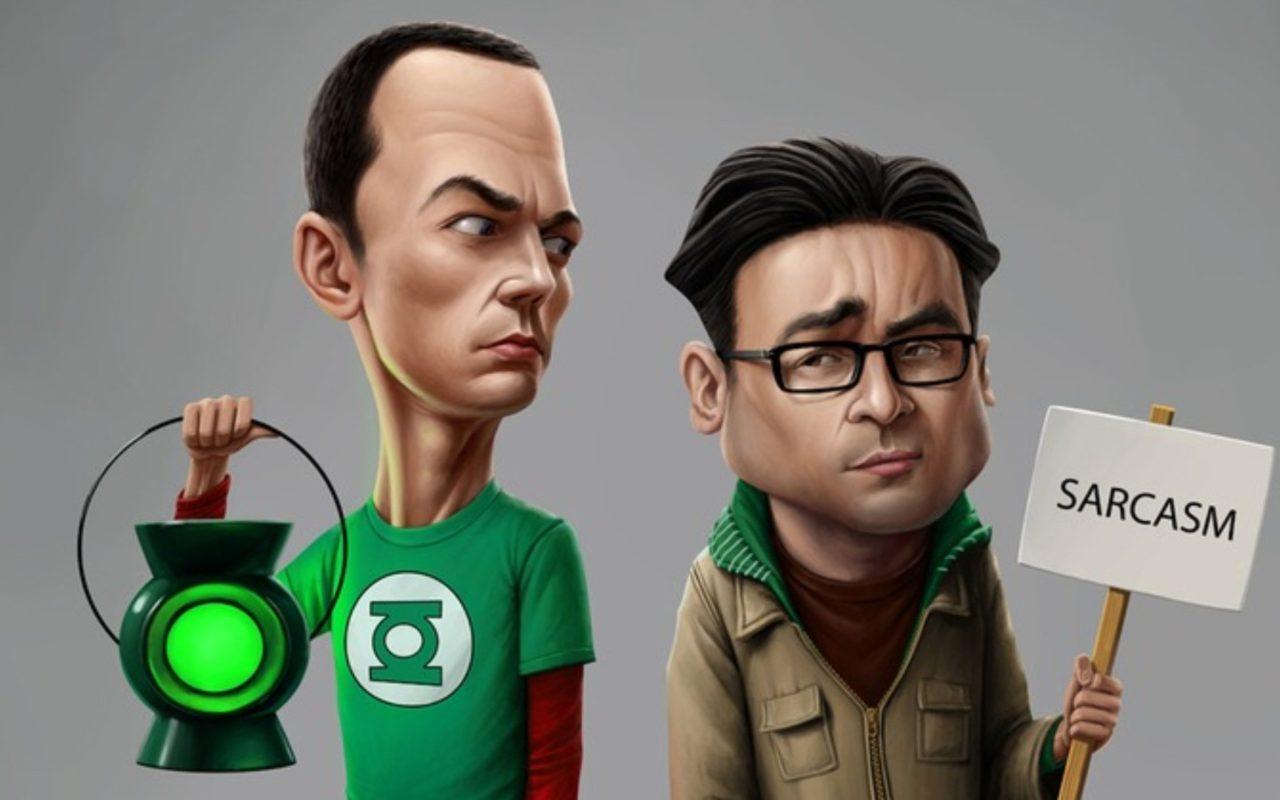 The Big Bang Theory Sheldon Leonard Lamp Sarcasm Wallpaper