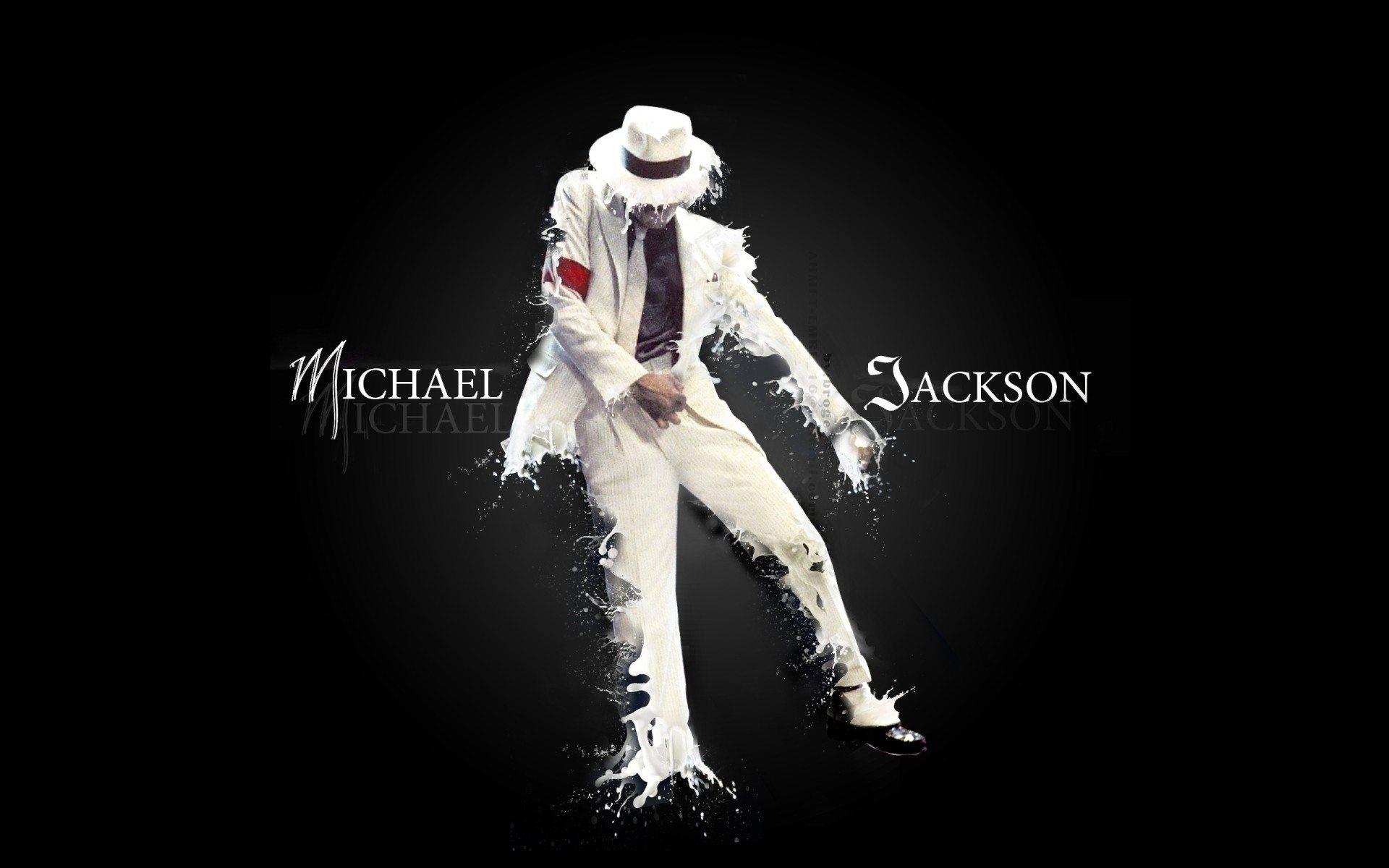Michael Jackson Suit Dance Letters Spray Wallpaper Hd Wallpapers
