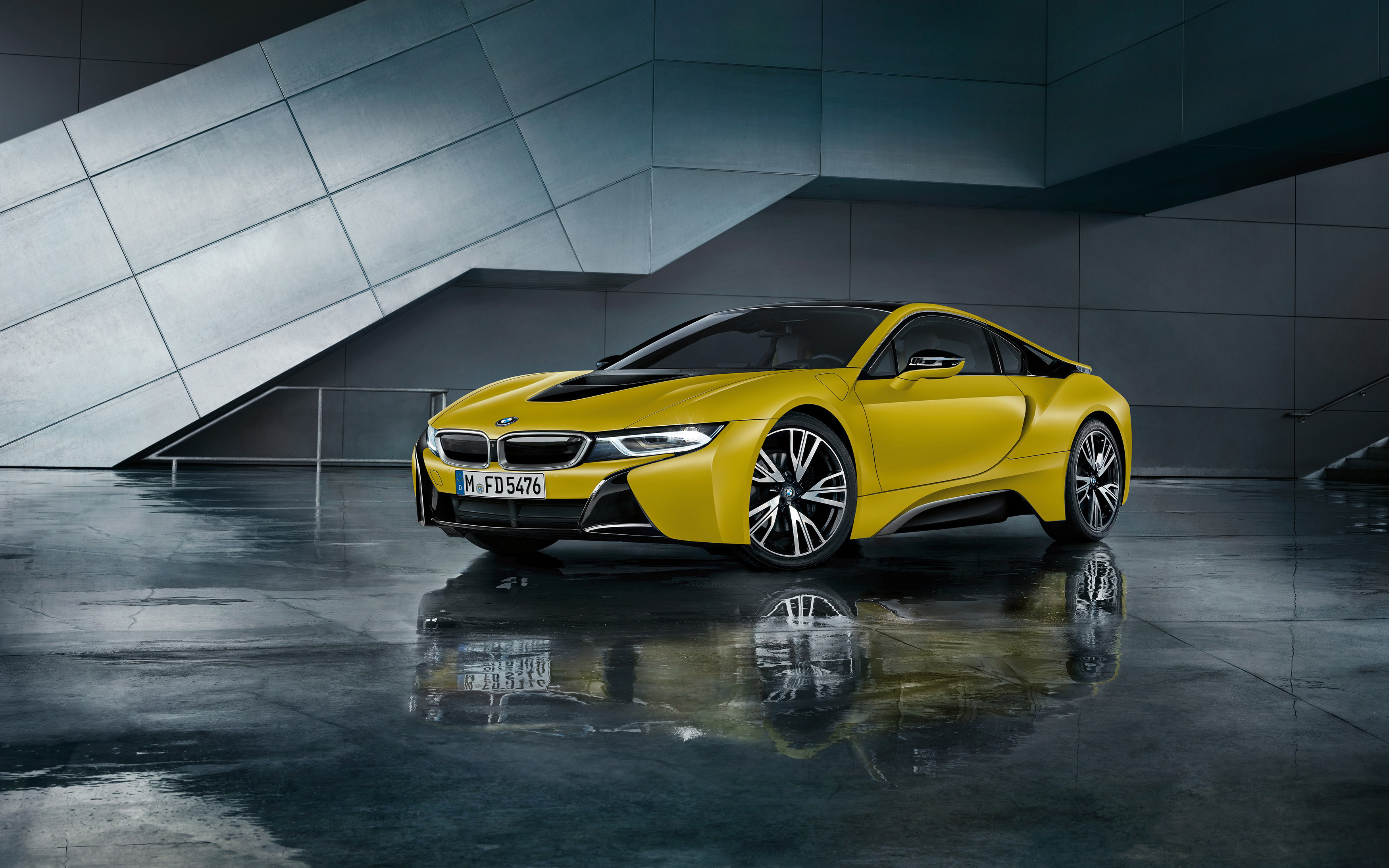Bmw I8 Frozen Yellow 2017 Wallpapers Hd Wallpapers