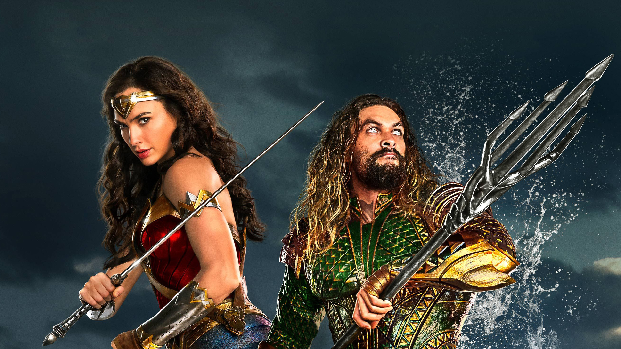 Wonder Woman Aquaman In Justice League Wallpapers Hd Wallpapers