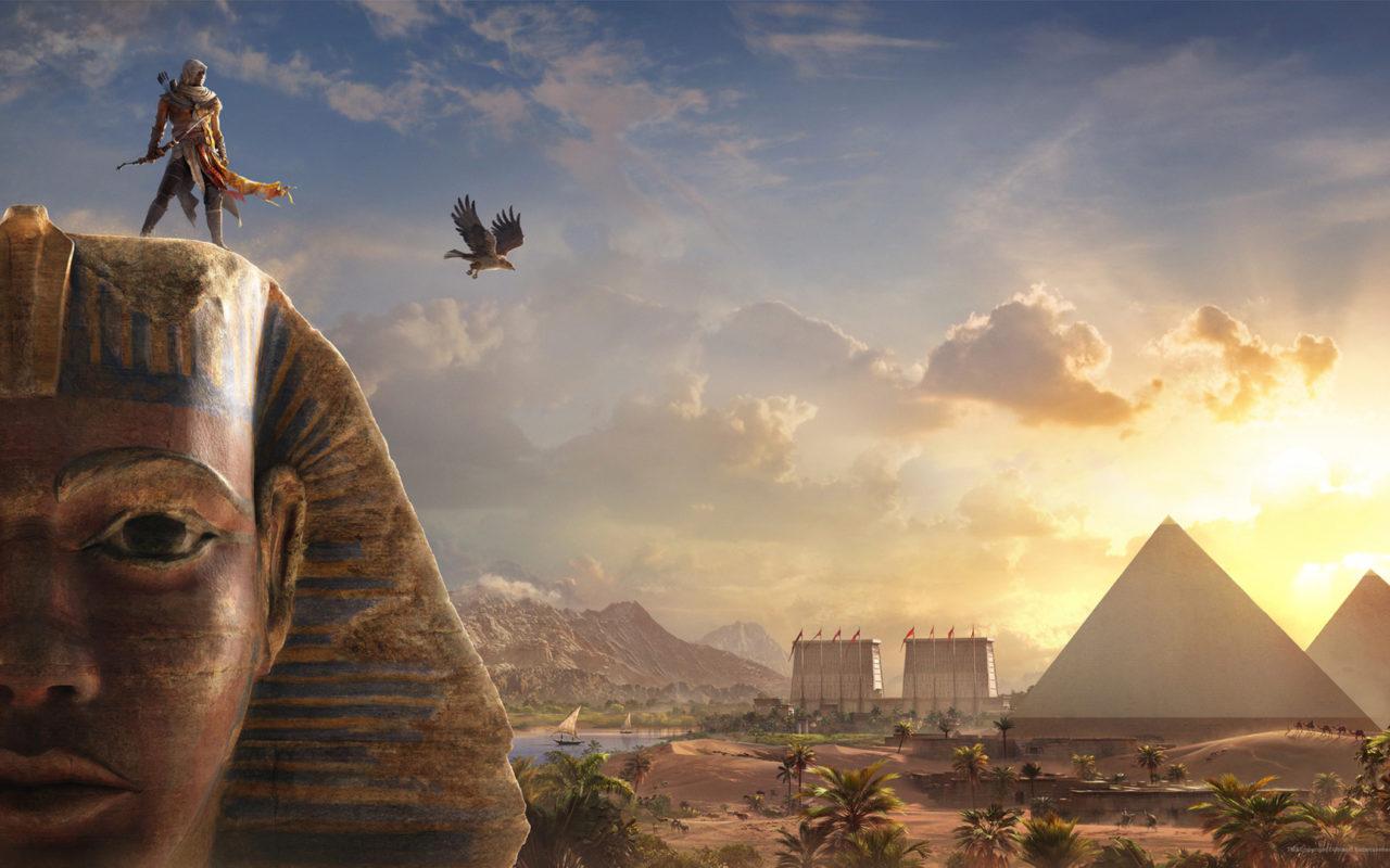 Bayek Sphinx Assassins Creed Origins Wallpapers Hd Wallpapers