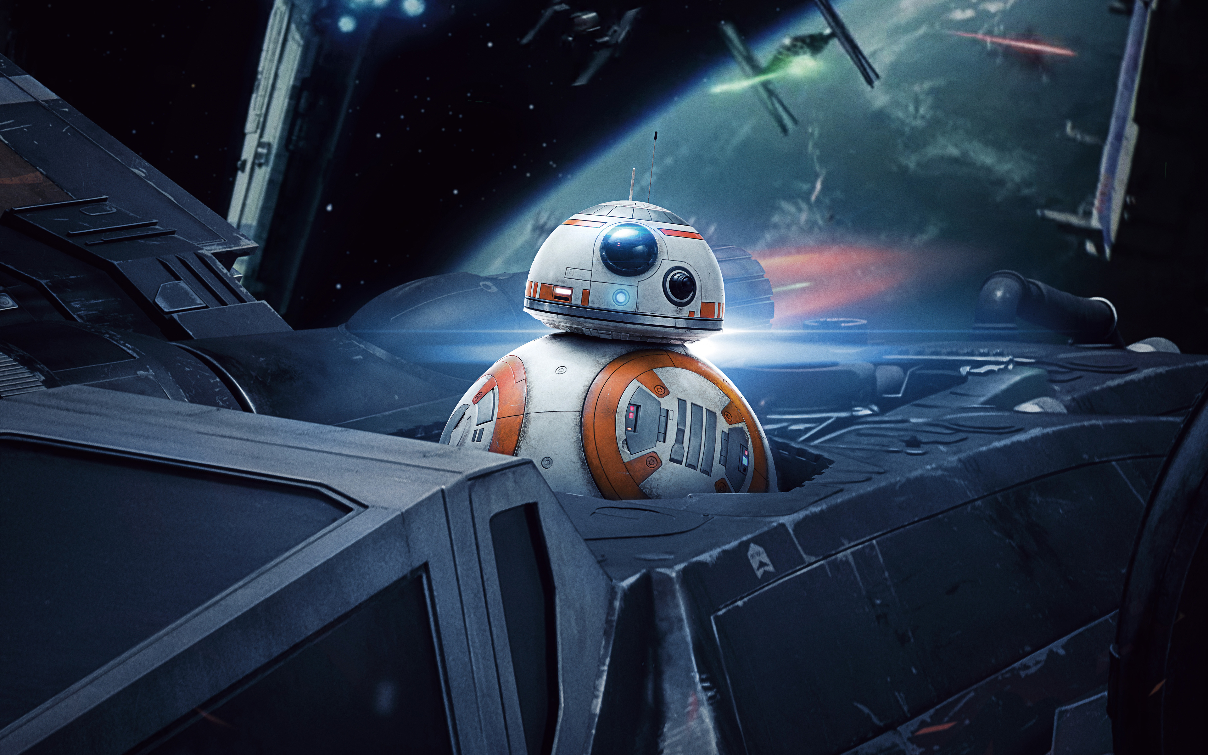 Bb 8 In Star Wars The Last Jedi 4k Wallpapers Hd Wallpapers