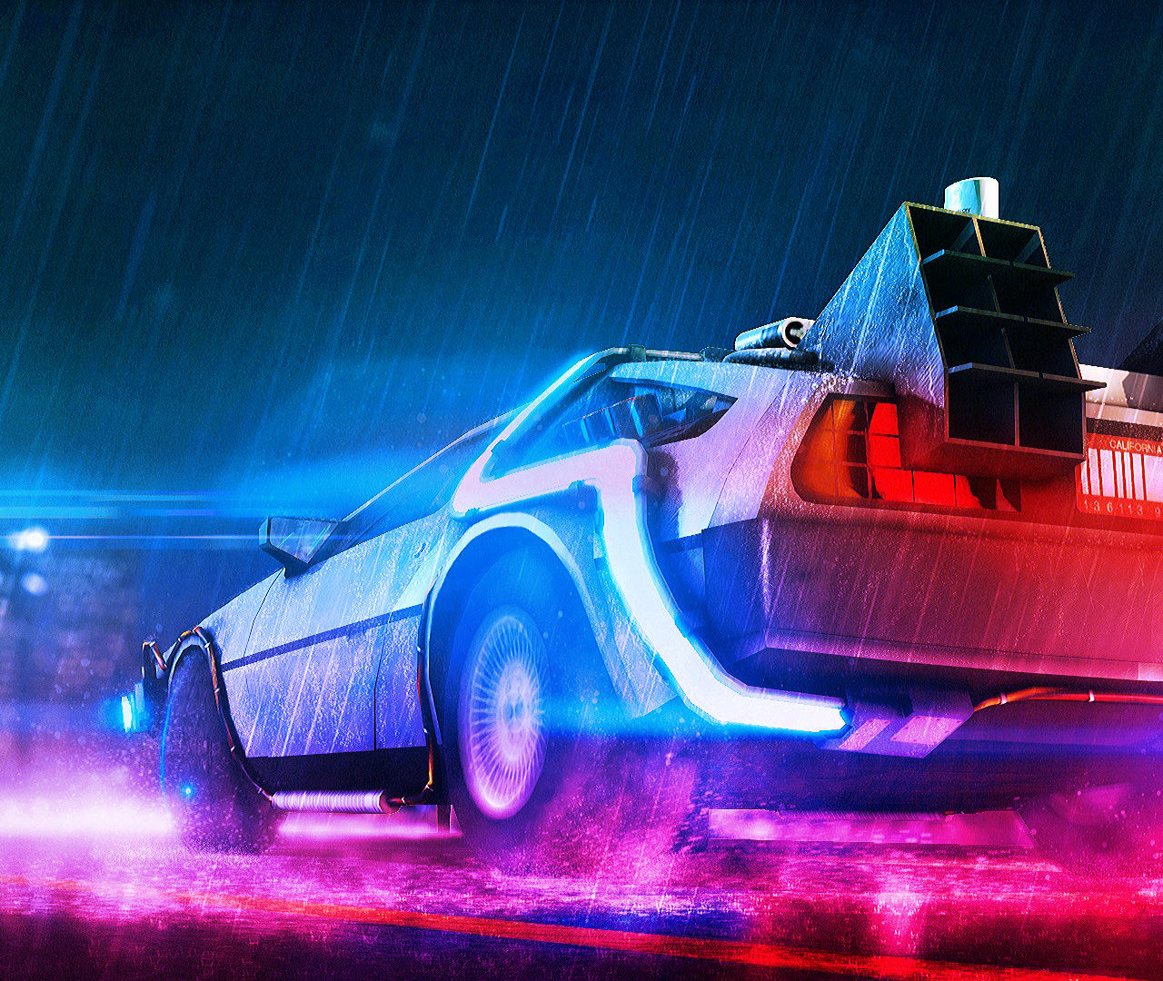 Back To The Future Neon Wallpapers | HD Wallpapers