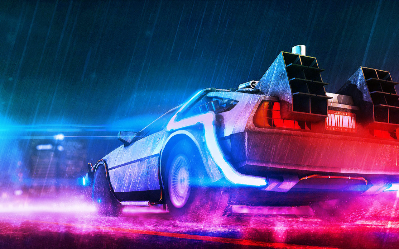 Back To The Future Neon Wallpapers Hd Wallpapers