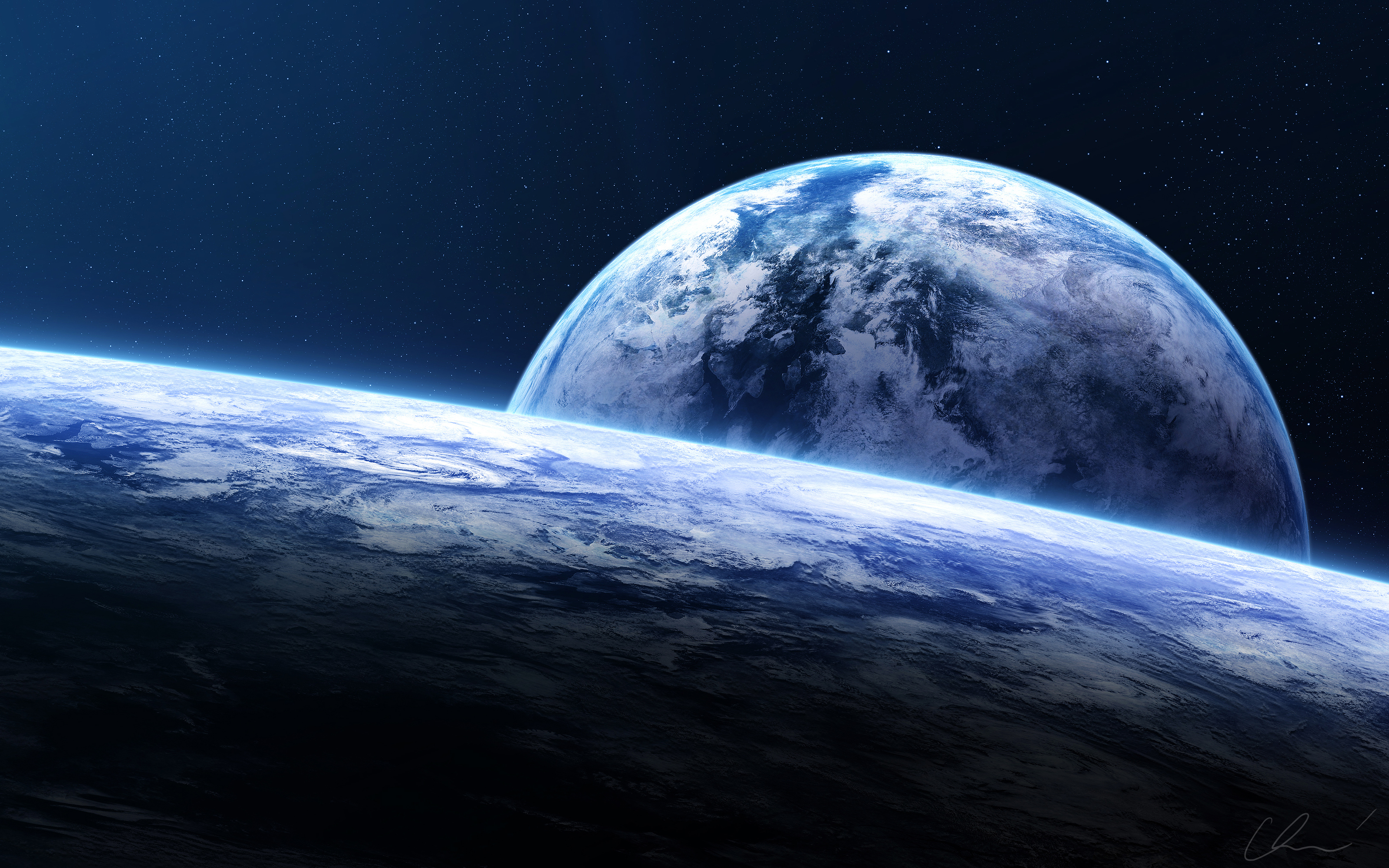 Earth Horizon Spacescape Wallpapers | HD Wallpapers