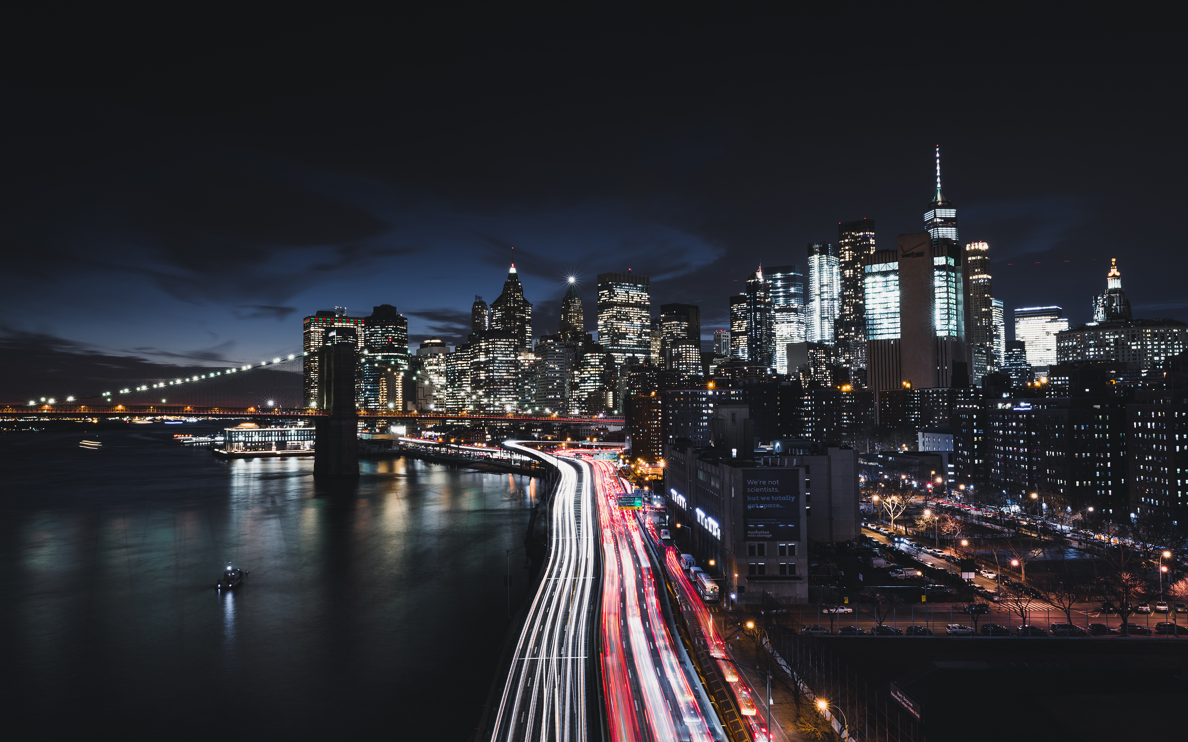 Manhattan New York City Night Cityscape 4k 8k Wallpapers Hd