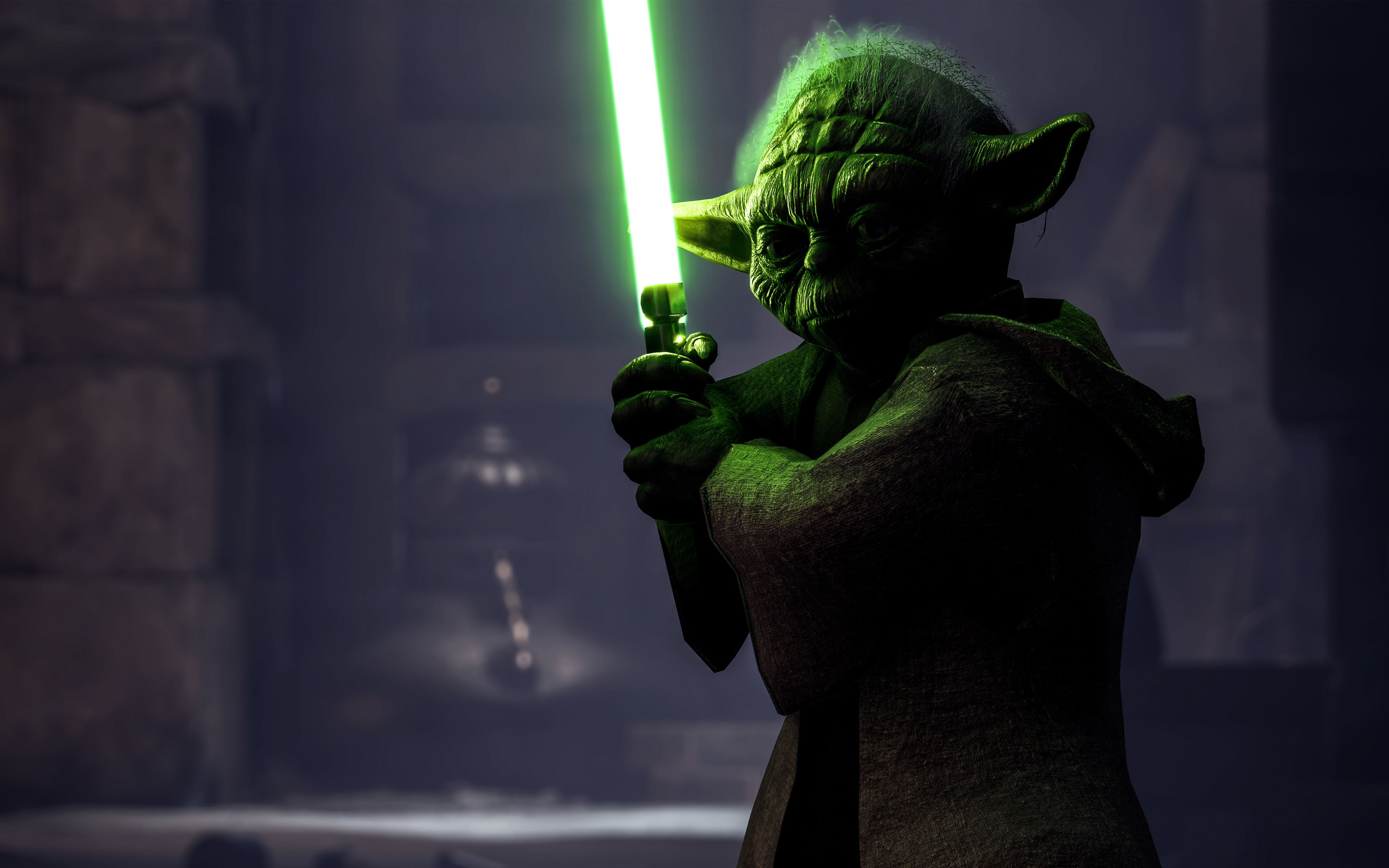 yoda in star wars battlefront 4k