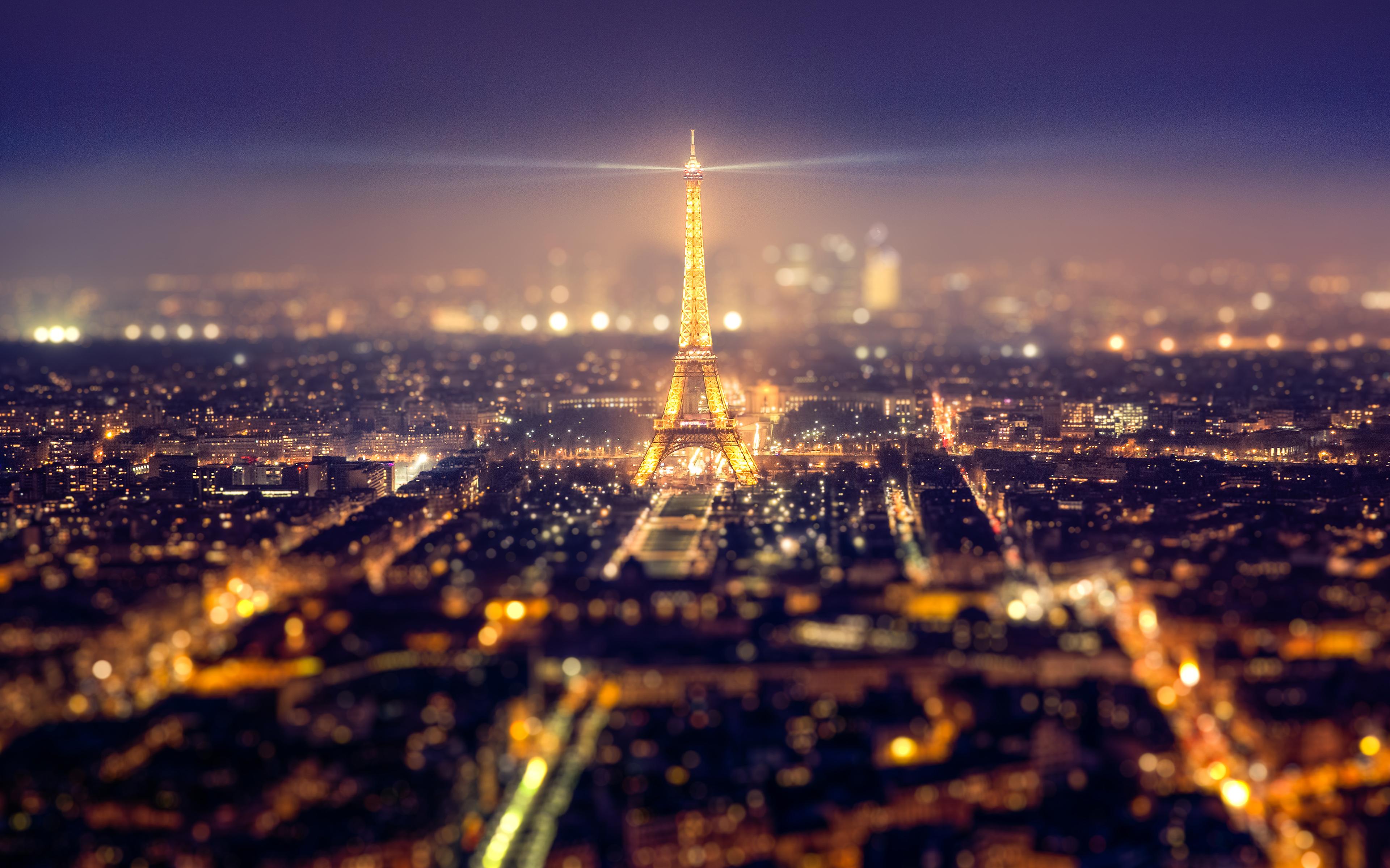 eiffel tower paris cityscape 4k