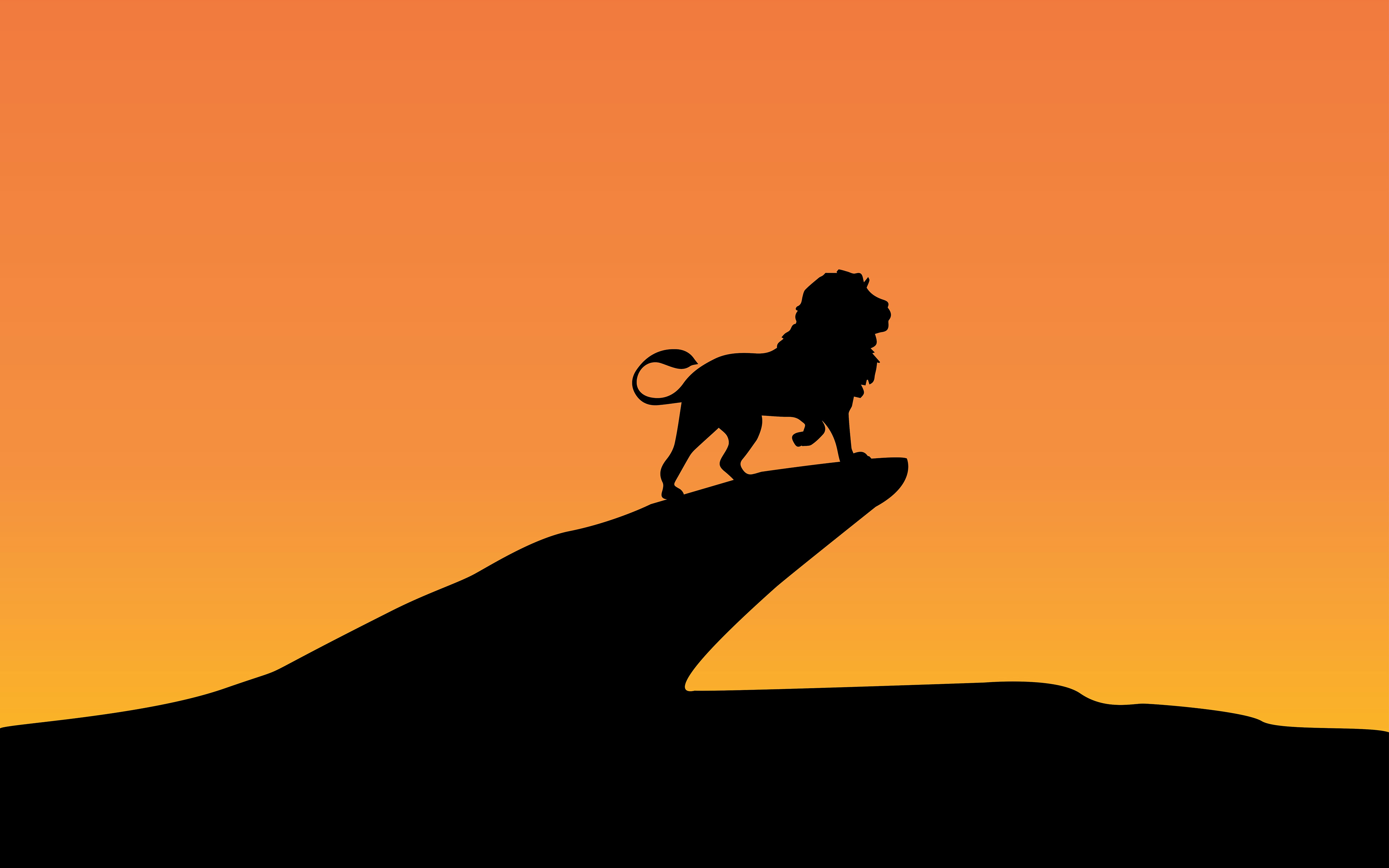Lion King Silhouette Minimal 4k 8k Wallpapers Hd Wallpapers