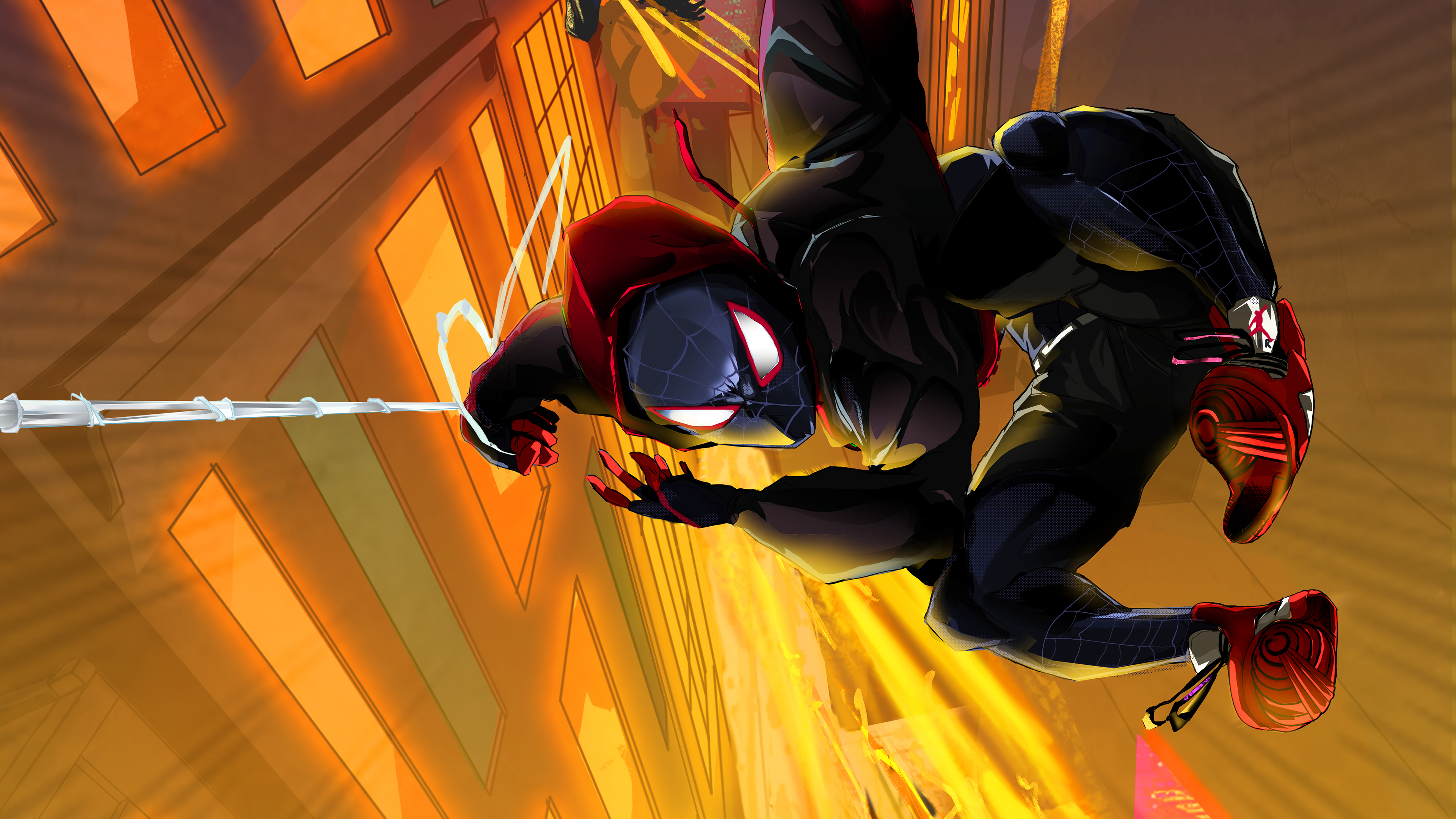 Spider Man Into The Spider Verse Artwork 4k Wallpapers Hd Wallpapers