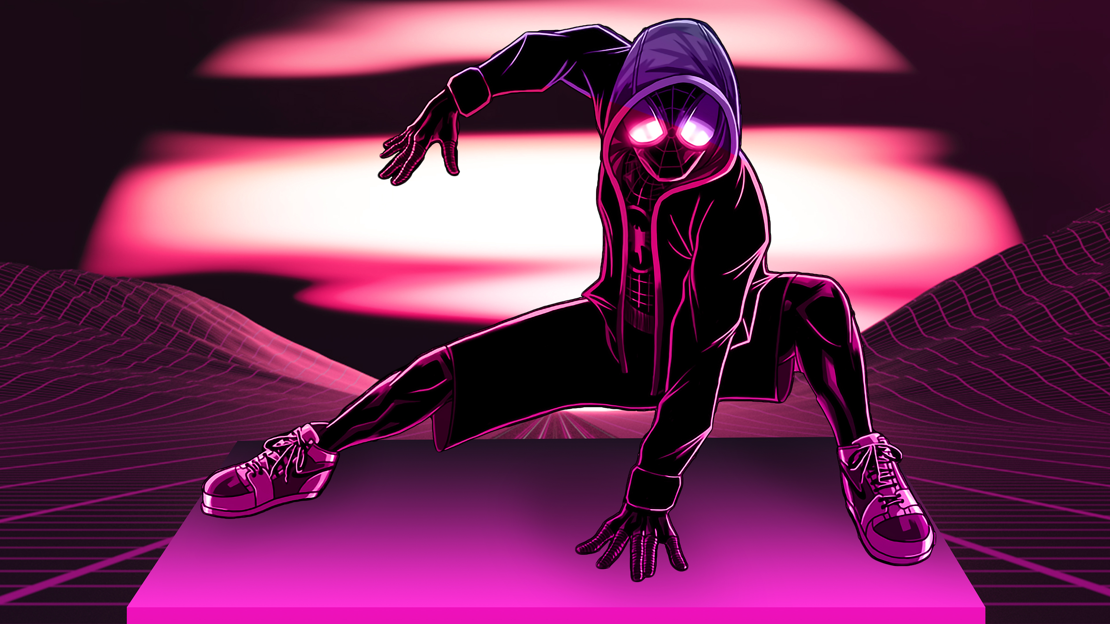 Miles Morales In Spider Man Into The Spider Verse 4k Wallpapers