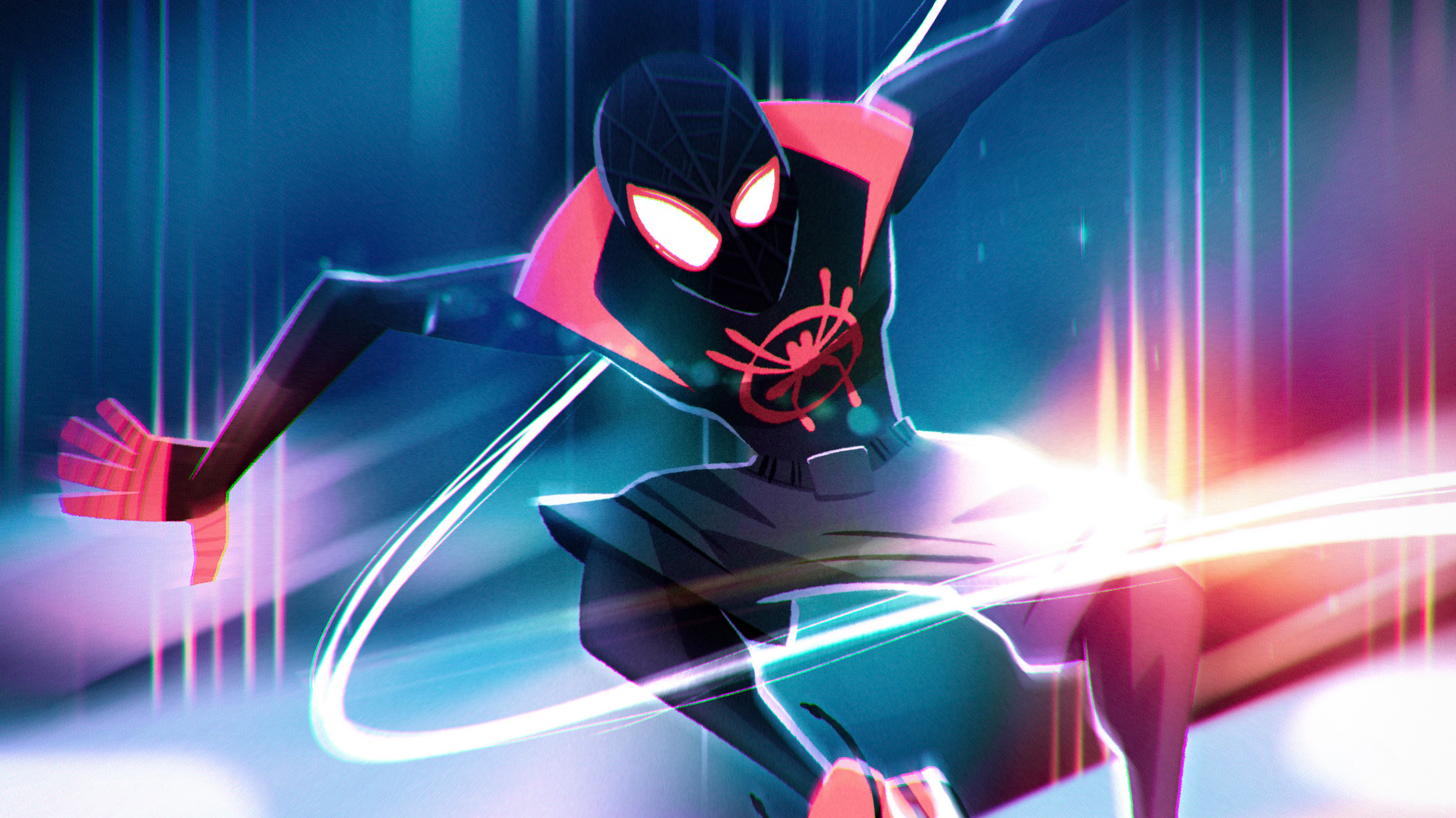 Spider Man Into The Spider Verse Artwork Wallpapers Hd Wallpapers