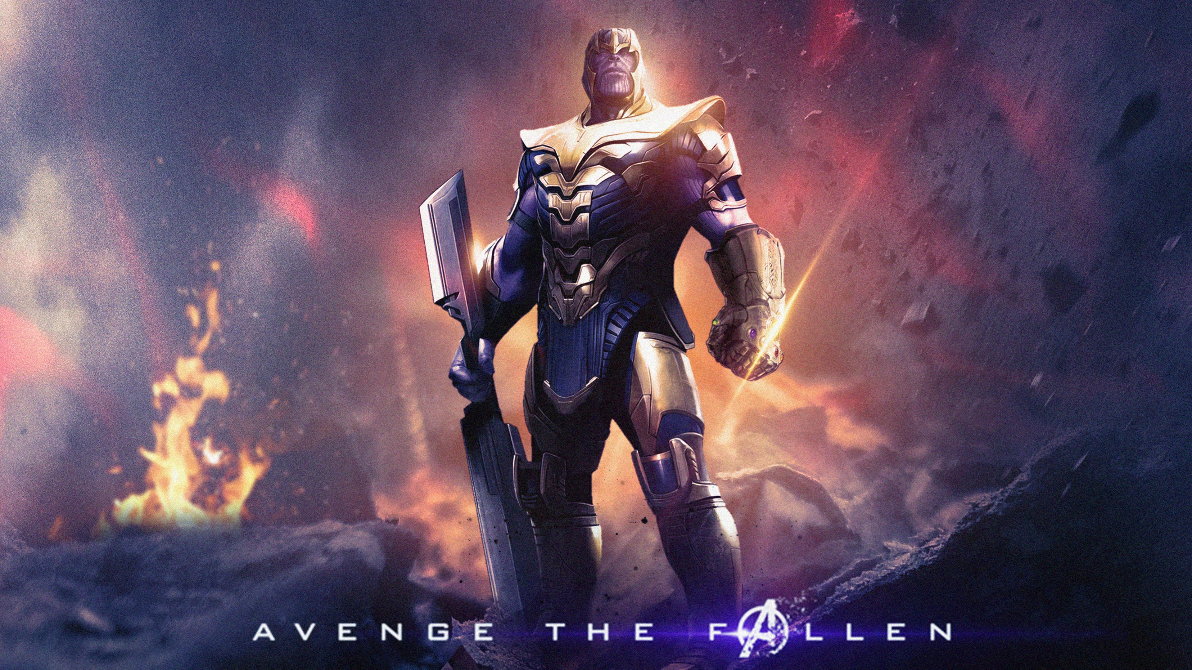 Captain America Iron Man in Avengers Endgame 4K Wallpapers ...